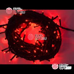 Светодиодная гирлянда 10м цвет красный провод черный 10шт х850руб 220V