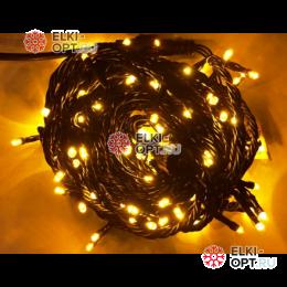 Светодиодная гирлянда 10м цвет желтый провод черный 10шт х 850руб 220V