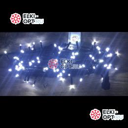 Светодиодная гирлянда 24V с мерцанием 10м цвет белый 10шт х 1148руб