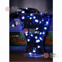 Светодиодная гирлянда 10м с колпачком 100 LED цвет синий IP65 10шт х1275руб