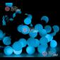 Светодиодная гирлянда мультишарики d-1,8см 10м цвет синий (20шт х 1785руб)  постоянное свечение IP65