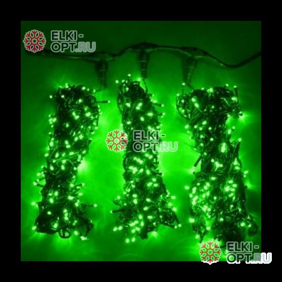Гирлянда Клип Лайт 3 луча по 10 метров цвет зеленый 5 штук х2975руб