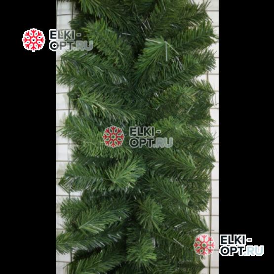 Еловая гирлянда d-40см цвет зеленый длина 2,7м  6шт х 1020руб