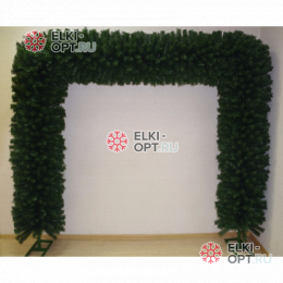 Еловая арка d-40см цвет зеленый размер 2,3м х 2,3м 2шт х10200руб