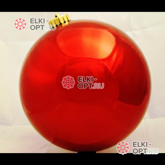 Шар пластиковый d-25см цвет красный глянец (1шт/уп) 6уп х 675руб