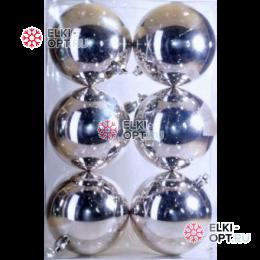 Шары d-7см цвет серебро глянец 48уп х 128руб