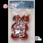 Шары пластиковые d-5см цвет красный глянец (6шт/уп)  144уп х 68руб