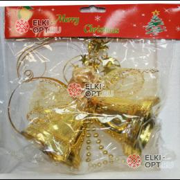 Колокольчики 11см цвет золотой (2шт)  30шт х65р