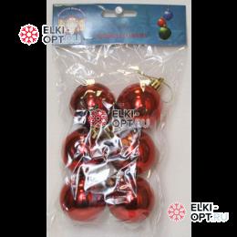 Шары d-5см цвет красный глянец