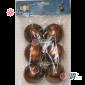 Шары пластиковые 6см цвет коричневый матовый