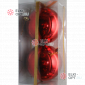 Шары пластиковые 10см цвет красный глянец