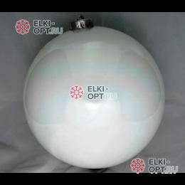 Шар пластиковый 15см цвет белый глянец