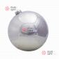 Шар пластиковый 20см цвет серебро глянец