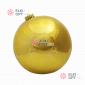 Шар пластиковый 25см цвет золотой глянец