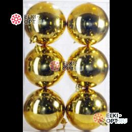 Шары d-8см цвет золото глянец
