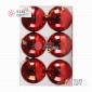 Шары пластиковые 8см цвет красный глянец