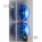 Шары пластиковые 12см цвет синий глянец