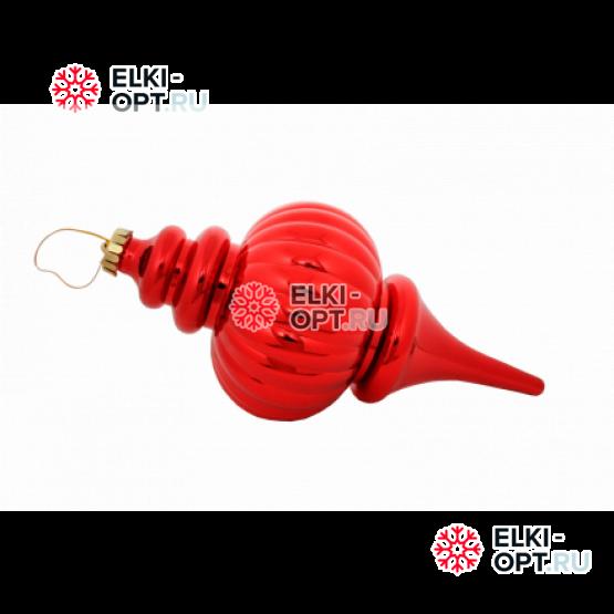 Сосулька пластиковая 11*25см цвет красный