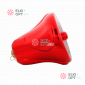 Колокольчик пластиковый 14 см цвет красный