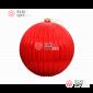 Шар пластиковый 20 см, цвет красный глянец рельефный