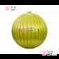 Шар пластиковый 20см цвет оливковый глянец, рельефный