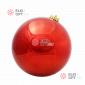 Шар пластиковый 25см цвет красный глянец