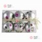 Набор елочных шаров 6см цвет серебро